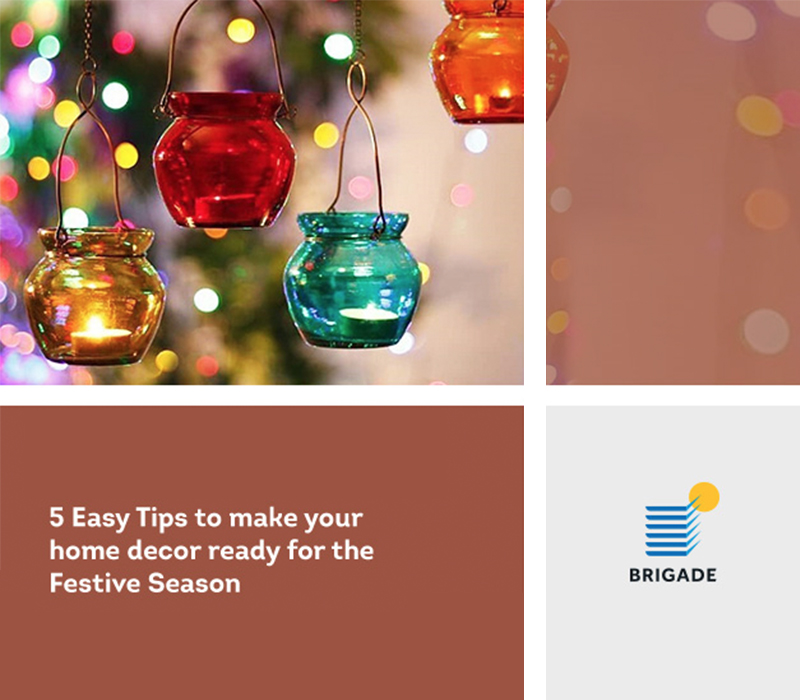 5 Easy Tips to make your home decor ready for the Festive  Season