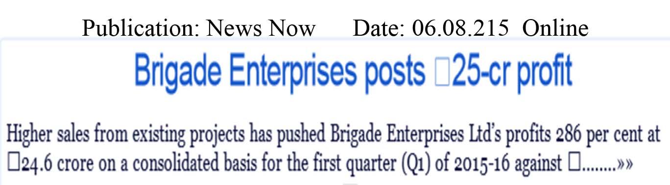 Brigade Enterprises posts 25-cr profit