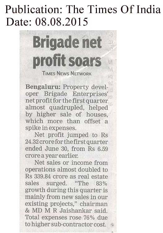 Brigade net profit soars