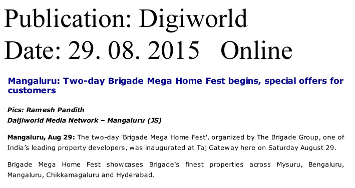 Mangaluru: Two day Brigade mega home fest begins, special offers for customers