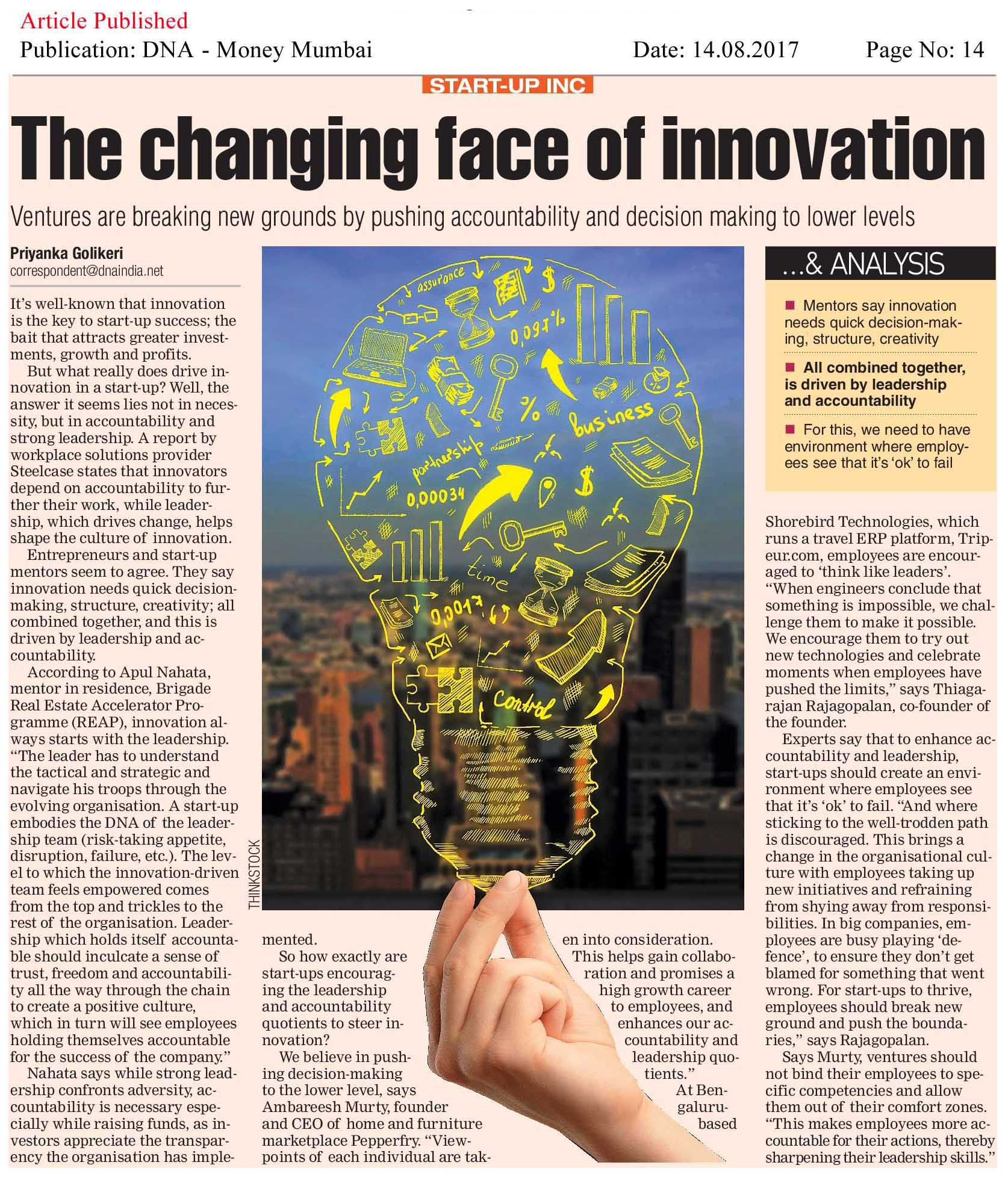 The changing face of innovation—DNA-Money Mumbai