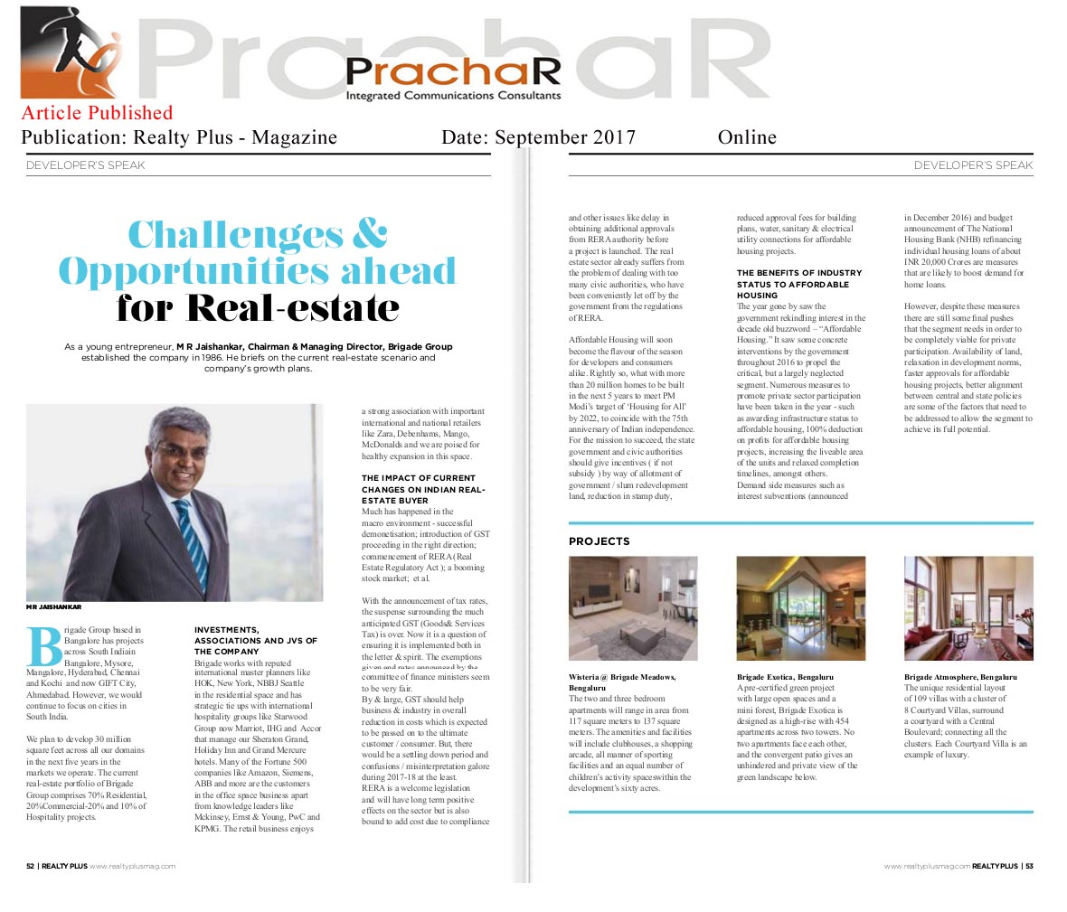 Challenges & Opportunities ahead for Real-estate—Realty Plus-Magazine