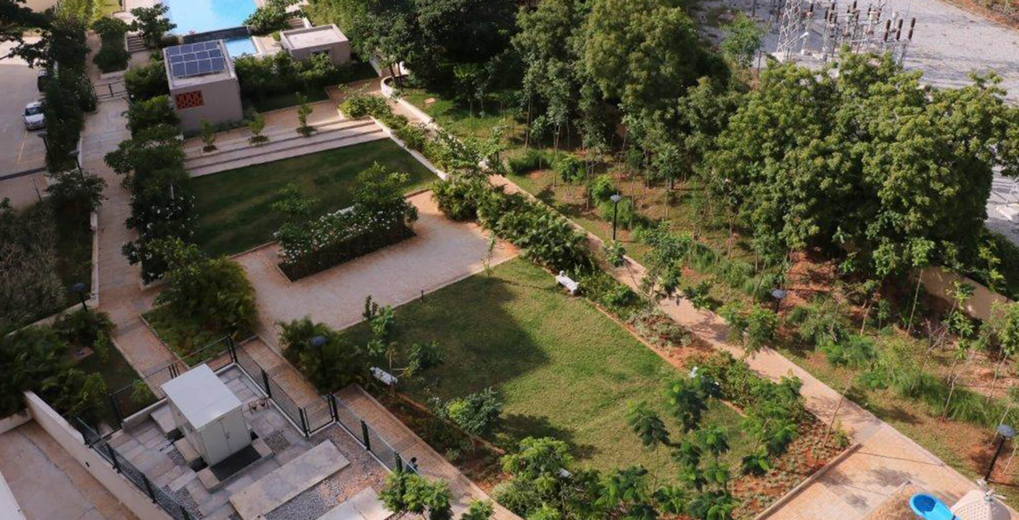Sep 2017 - Aerial view of landscaping
