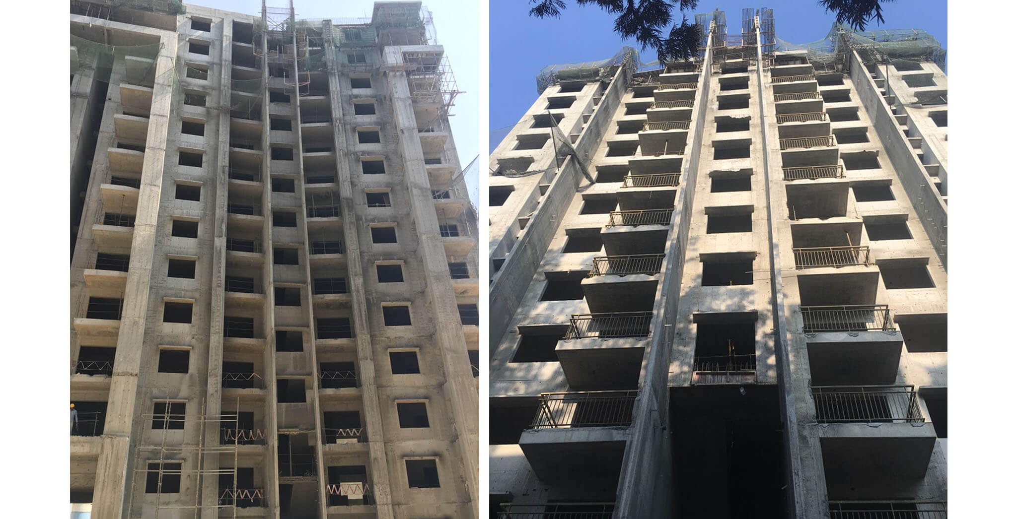 Crimson Block, O wing: 2 BHK and 3 BHK—above terrace work-in-progress