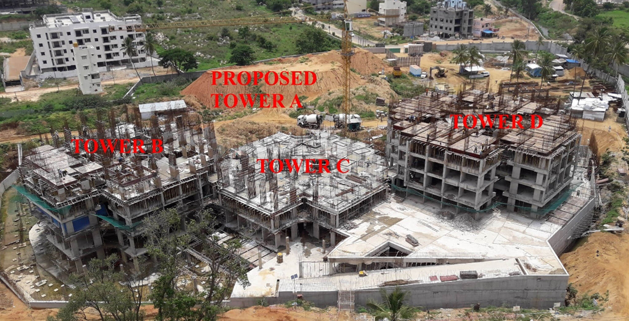 Jun 2018 - Tower B, C and D structure work-in-progress