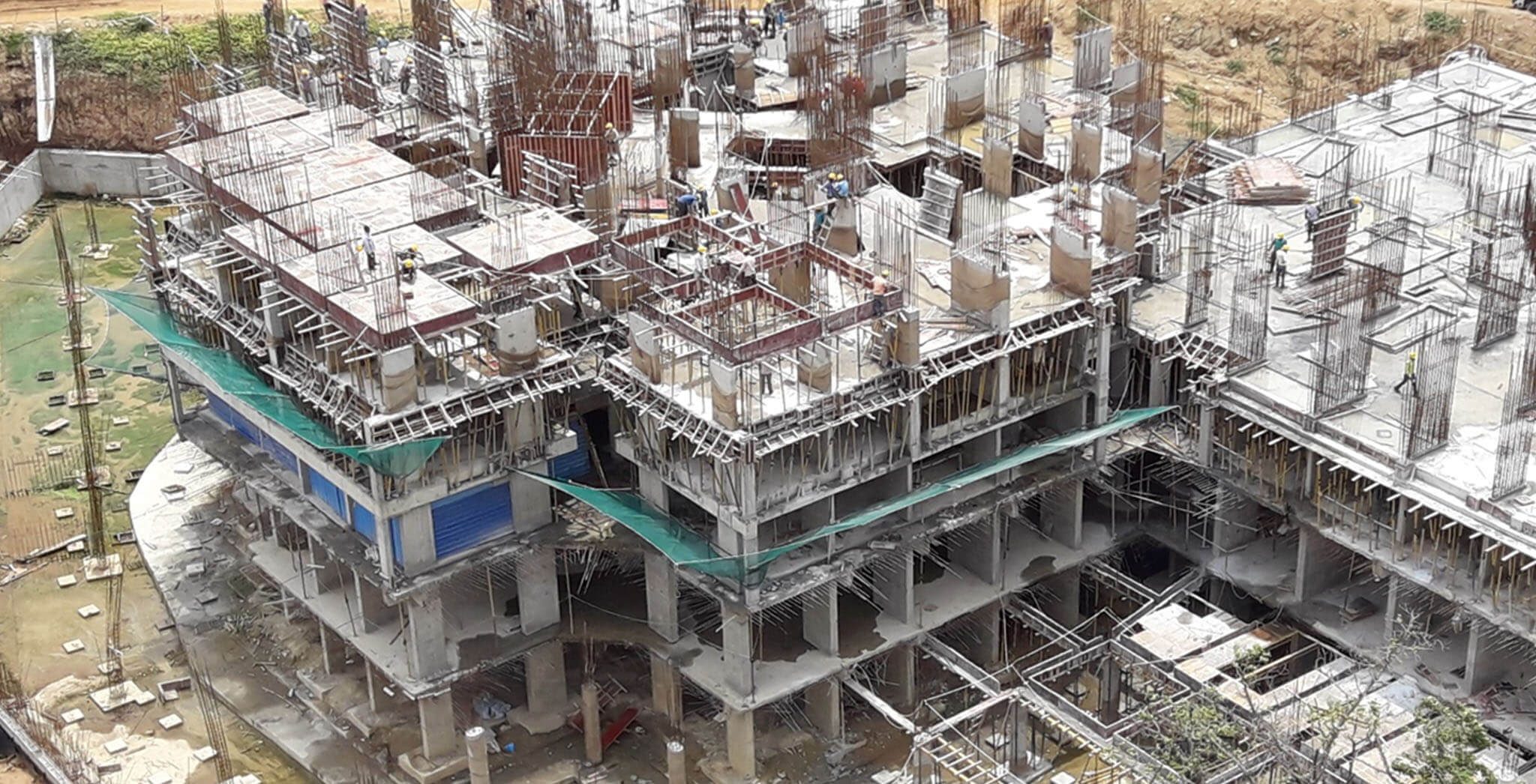 Jun 2018 - Tower B—second floor slab completed & third floor slab work-in-progress