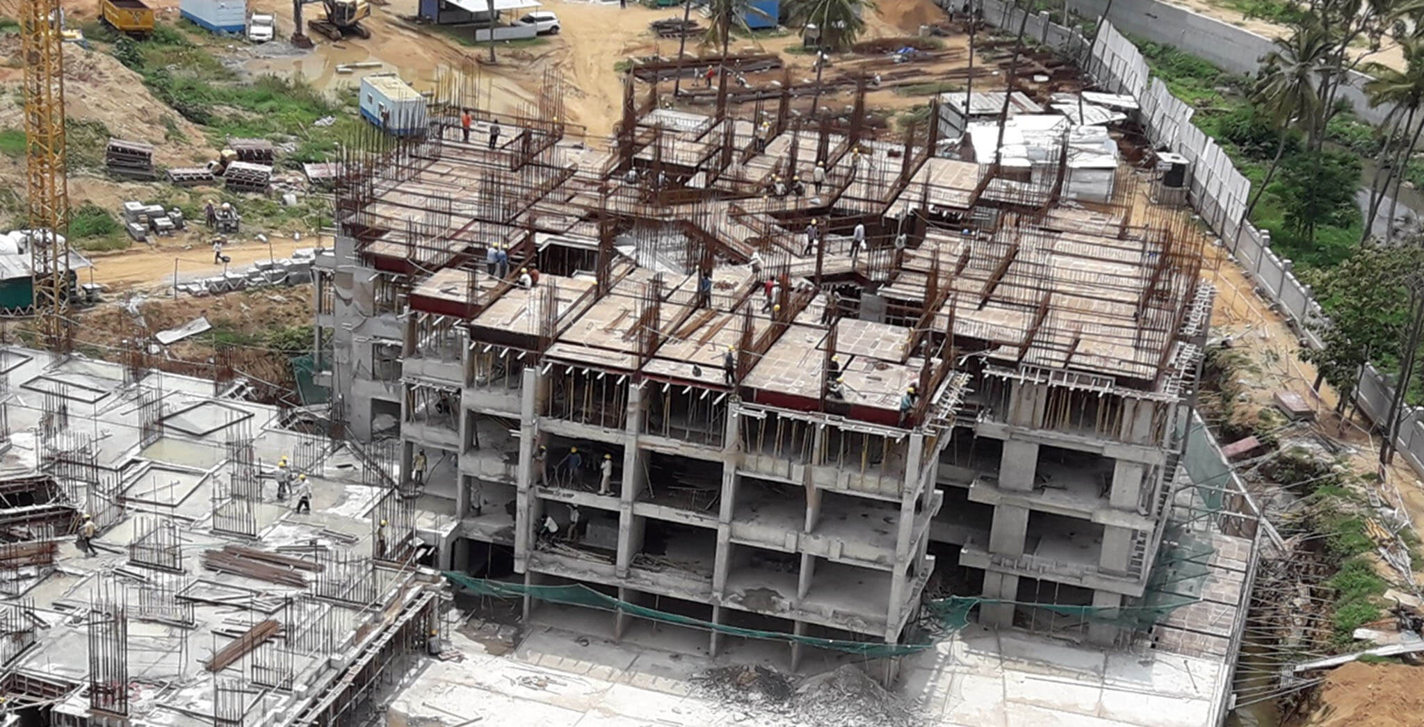 Jun 2018 - Tower D—fourth floor floor slab work-in-progress