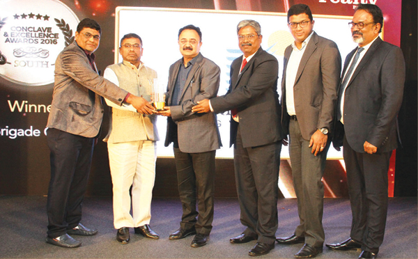 Brigade wins two awards at the Realty Plus Excellence Awards (South)