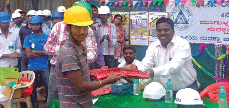 44th National Safety Week Celebrated at Brigade Projects