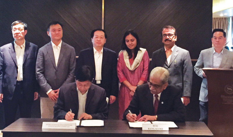 WTC Bangalore signs MoU with Jinshui SPAC