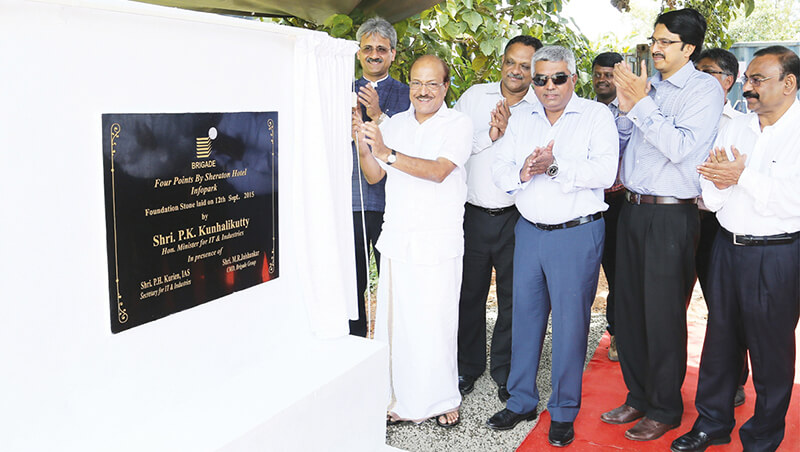 Brigade Group lays foundation for a Star Hotel in Infopark, Kochi