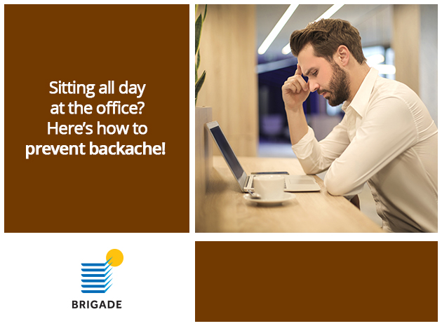 Sitting all day at the office? Here are some quick and easy exercises to prevent backache.