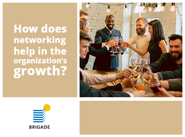 How does networking help in the organization's growth?