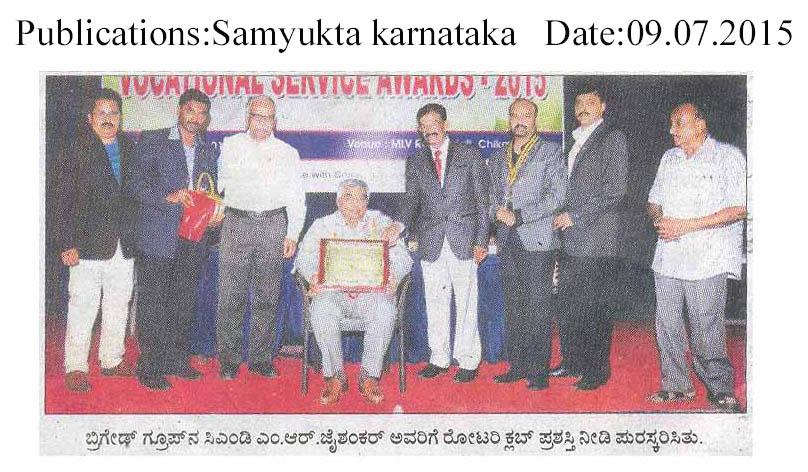 Rotary award for CMD