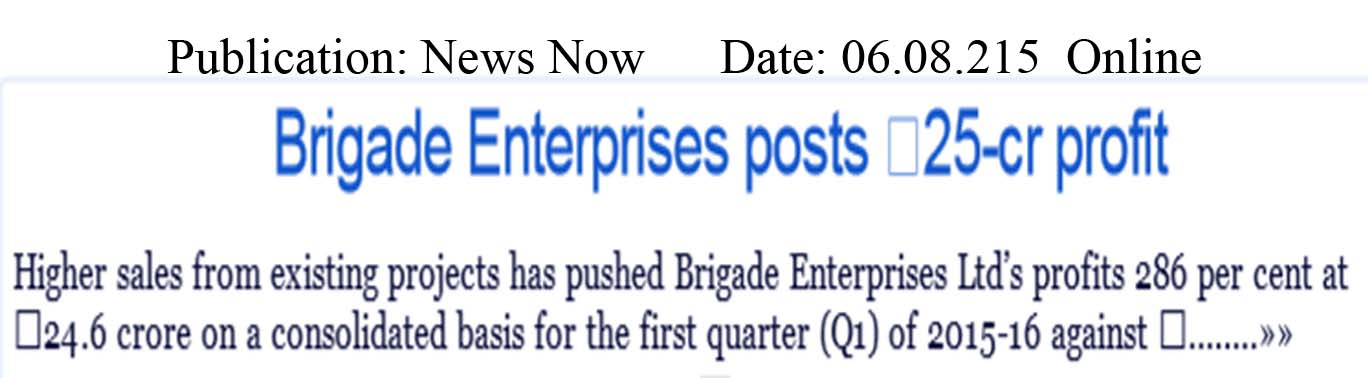 Brigade Enterprises posts 25-cr profit
