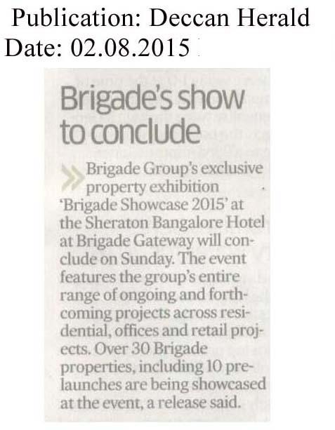 Brigade's show to conclude