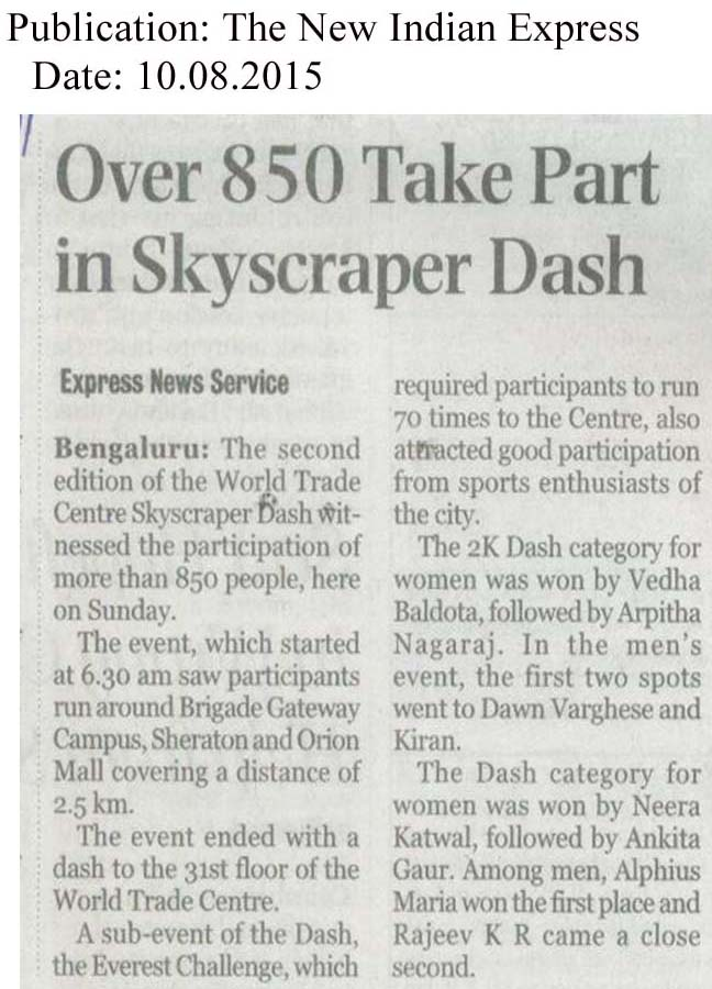Over 850 Take Part in skyscraper dash