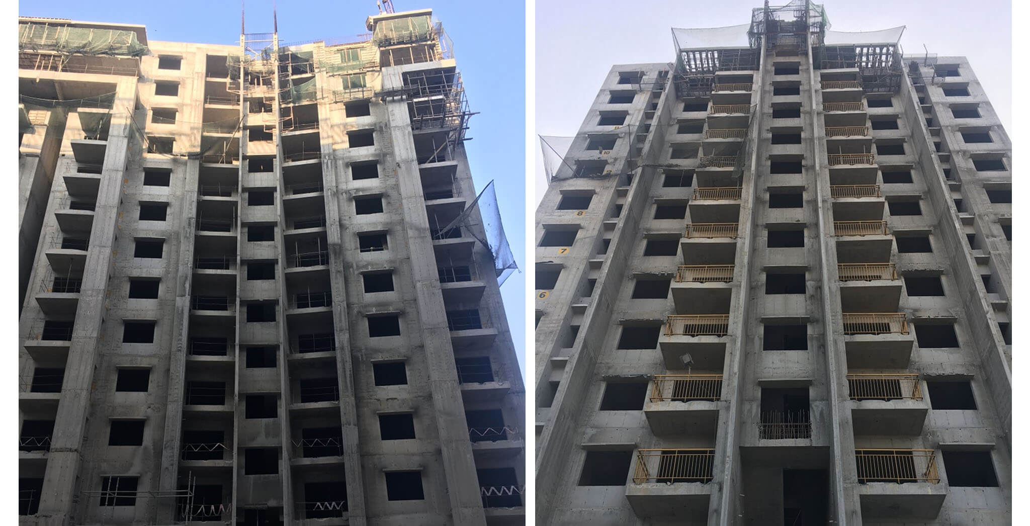 Feb 2018 - Crimson Block, T wing: 2 BHK and 3 BHK—above terrace work-in-progress