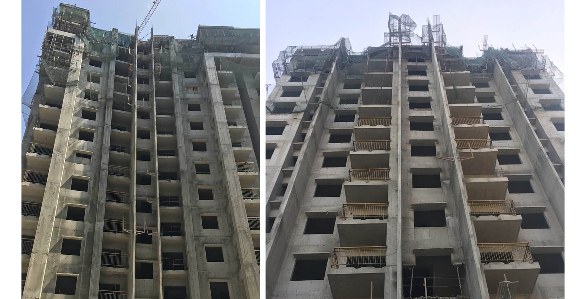 Feb 2018 - Crimson Block, S wing: 3 BHK Terrace work-in-progress; 2 BHK Terrace floor in progress