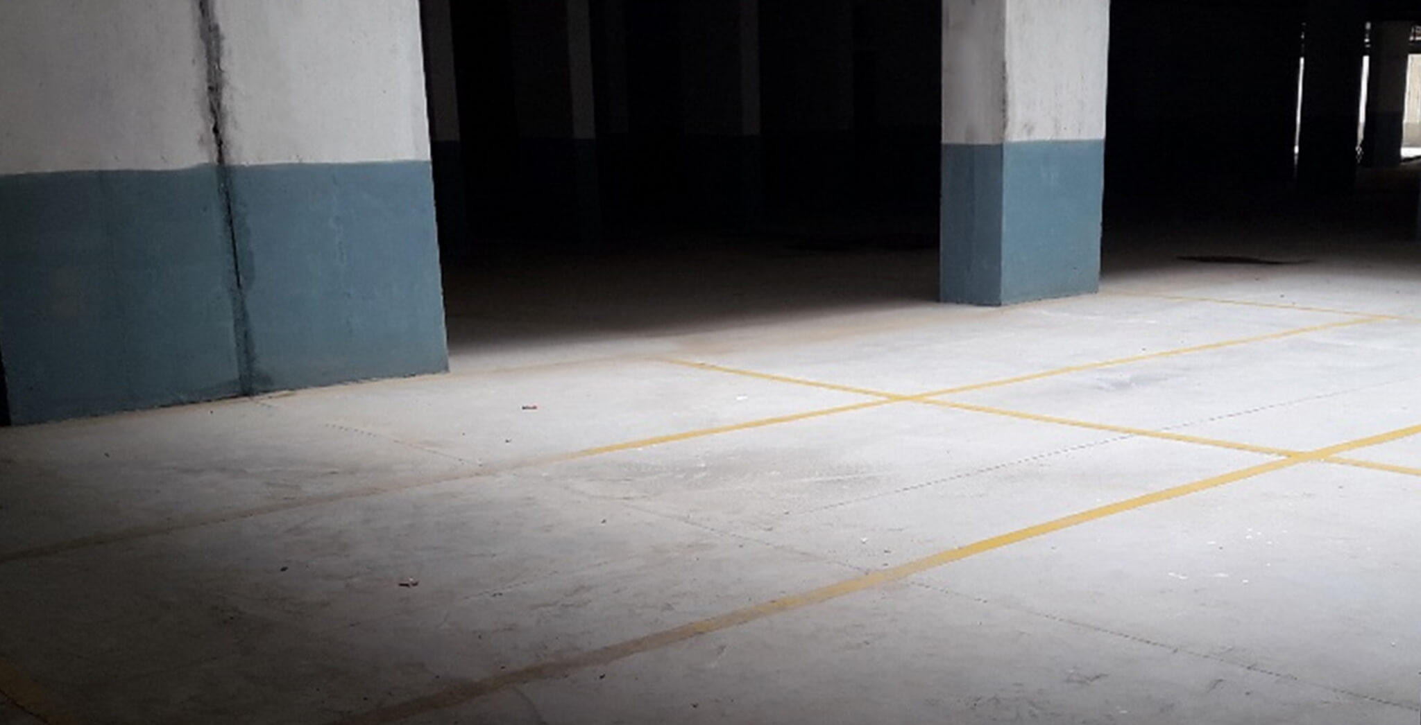 Nov 2018 - Plumeria Phase 1 basement: car park marking completed