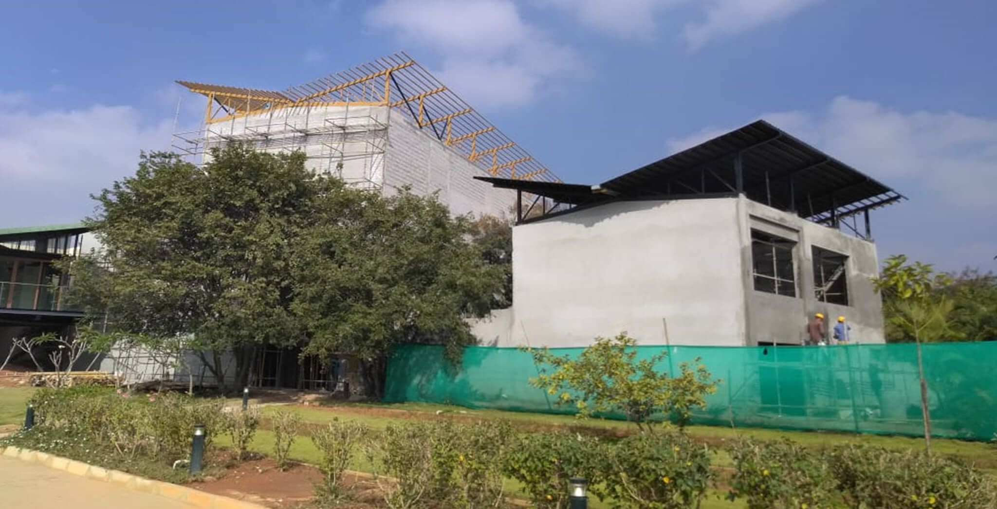 Nov 2018 - Clubhouse—External finishing work-in-progress