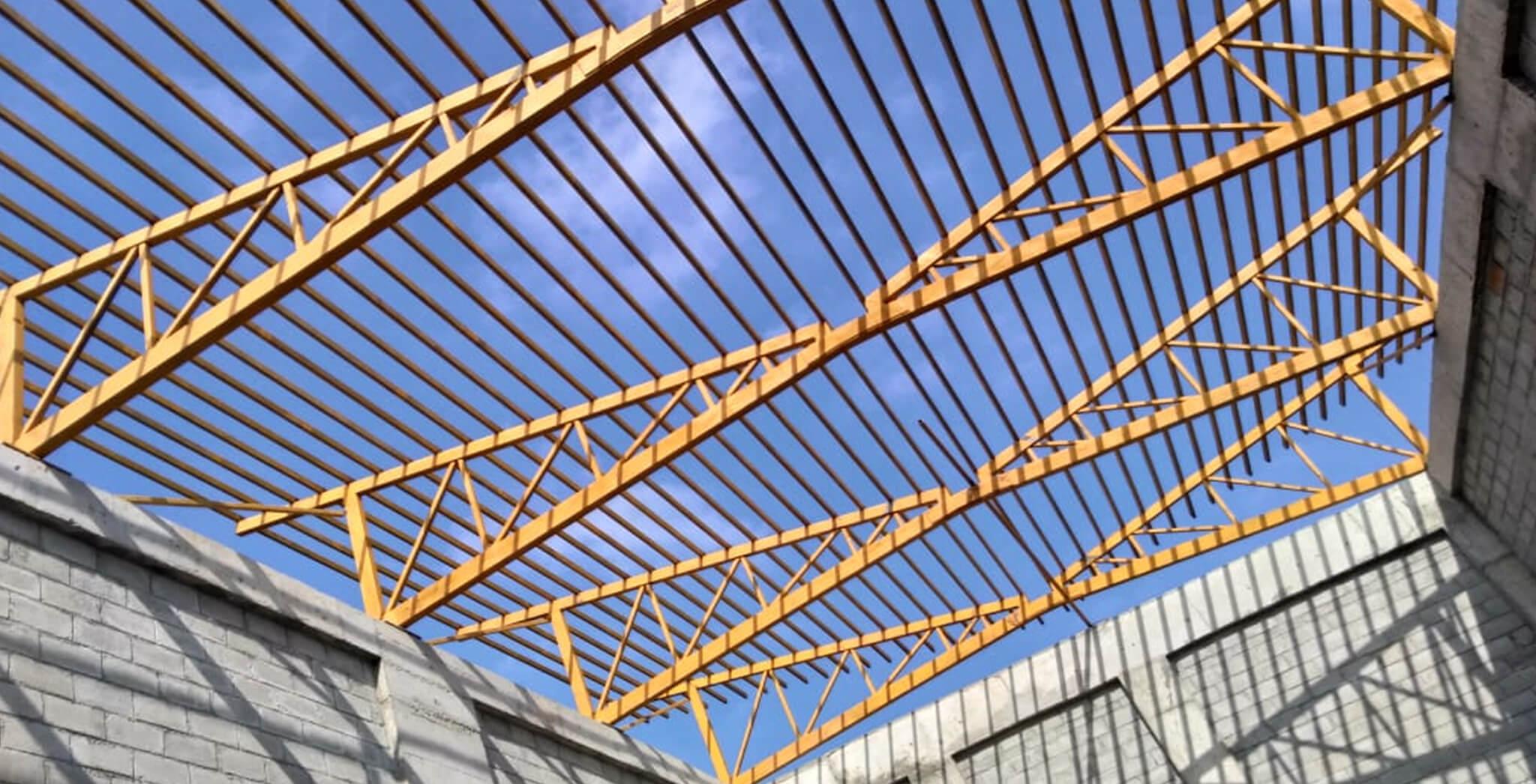 Nov 2018 - Clubhouse—MS Roof truss work-in-progress