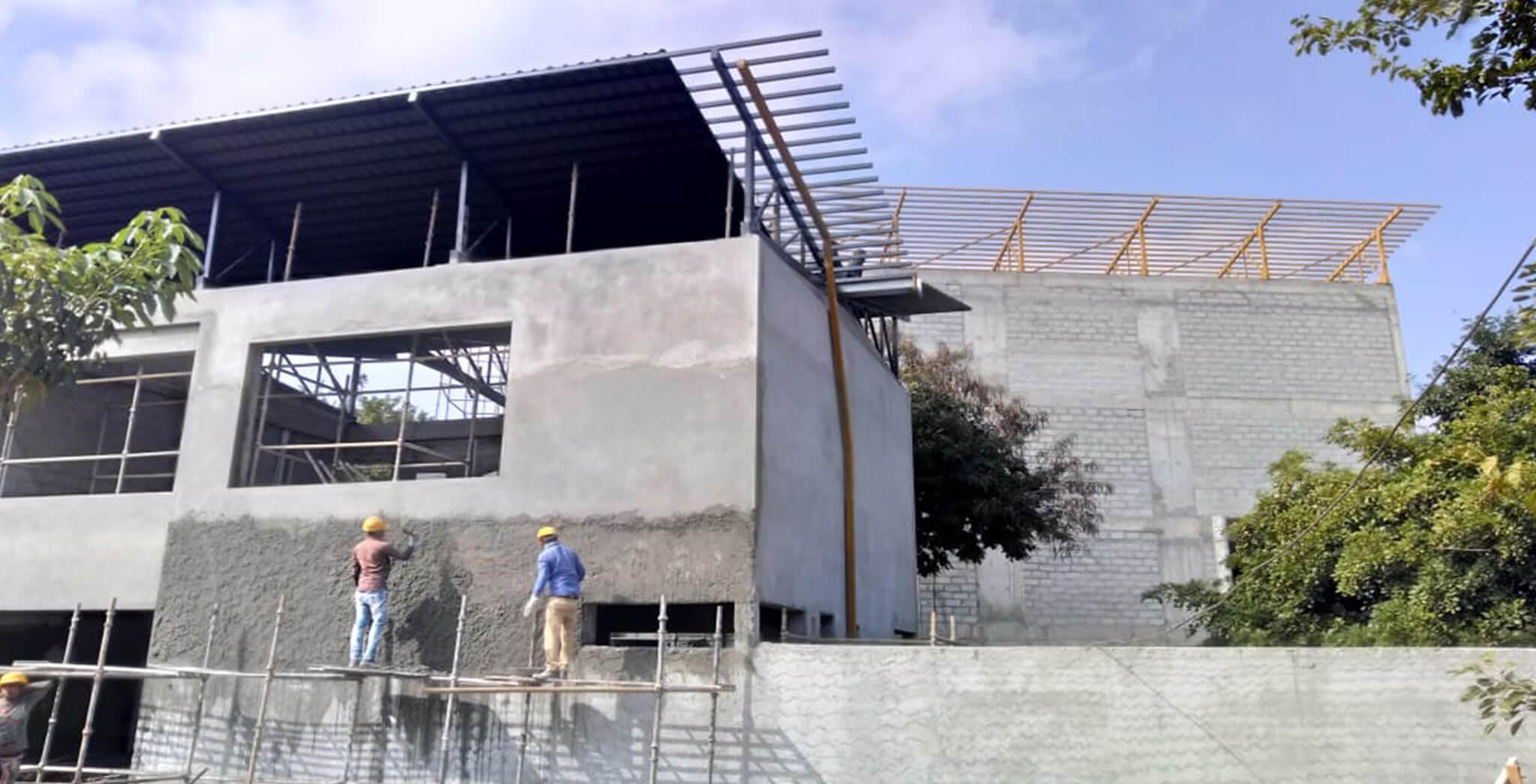 Nov 2018 - Clubhouse—External Plastering work-in-progress