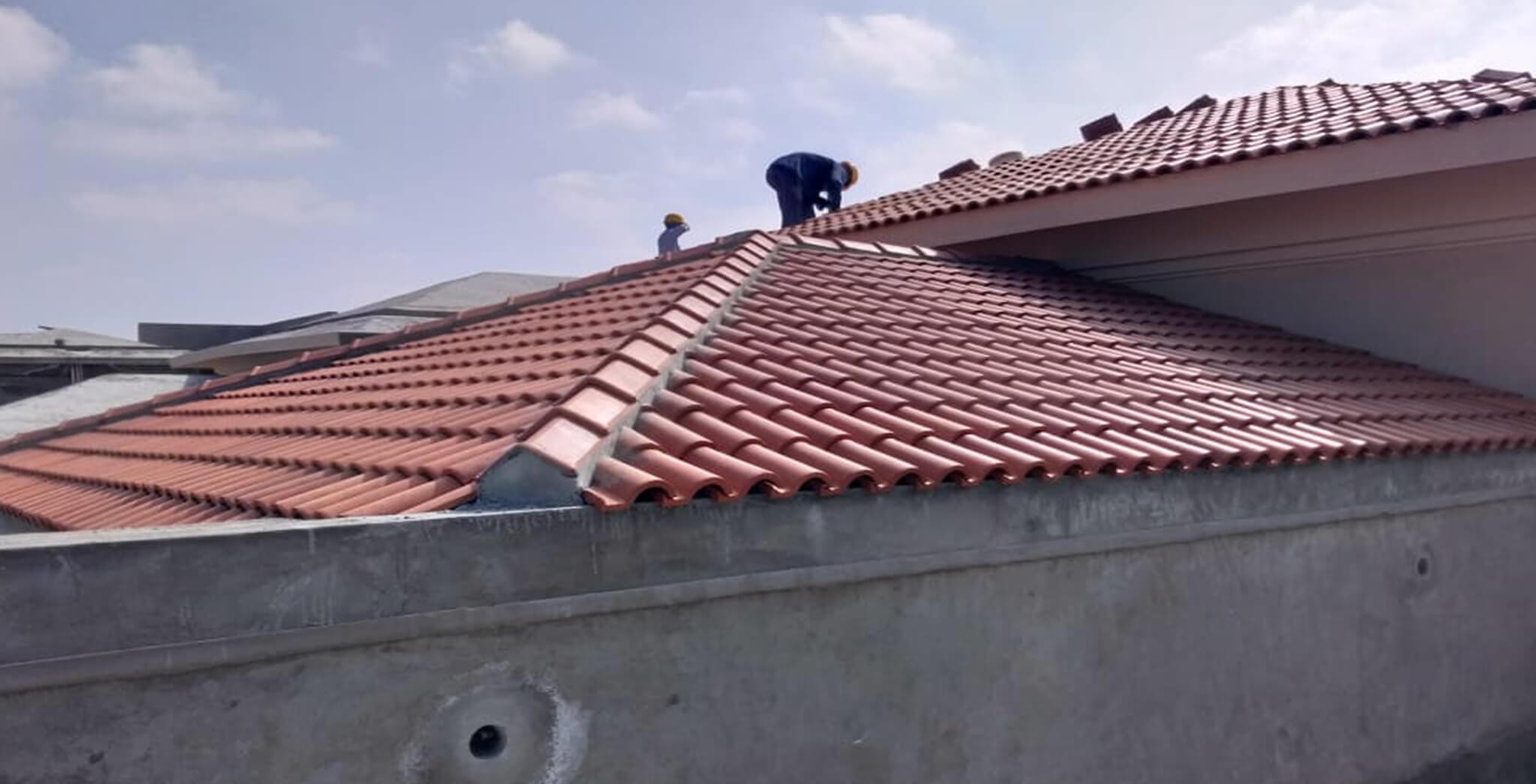 Nov 2018 - Villas Roof tiling work-in-progress
