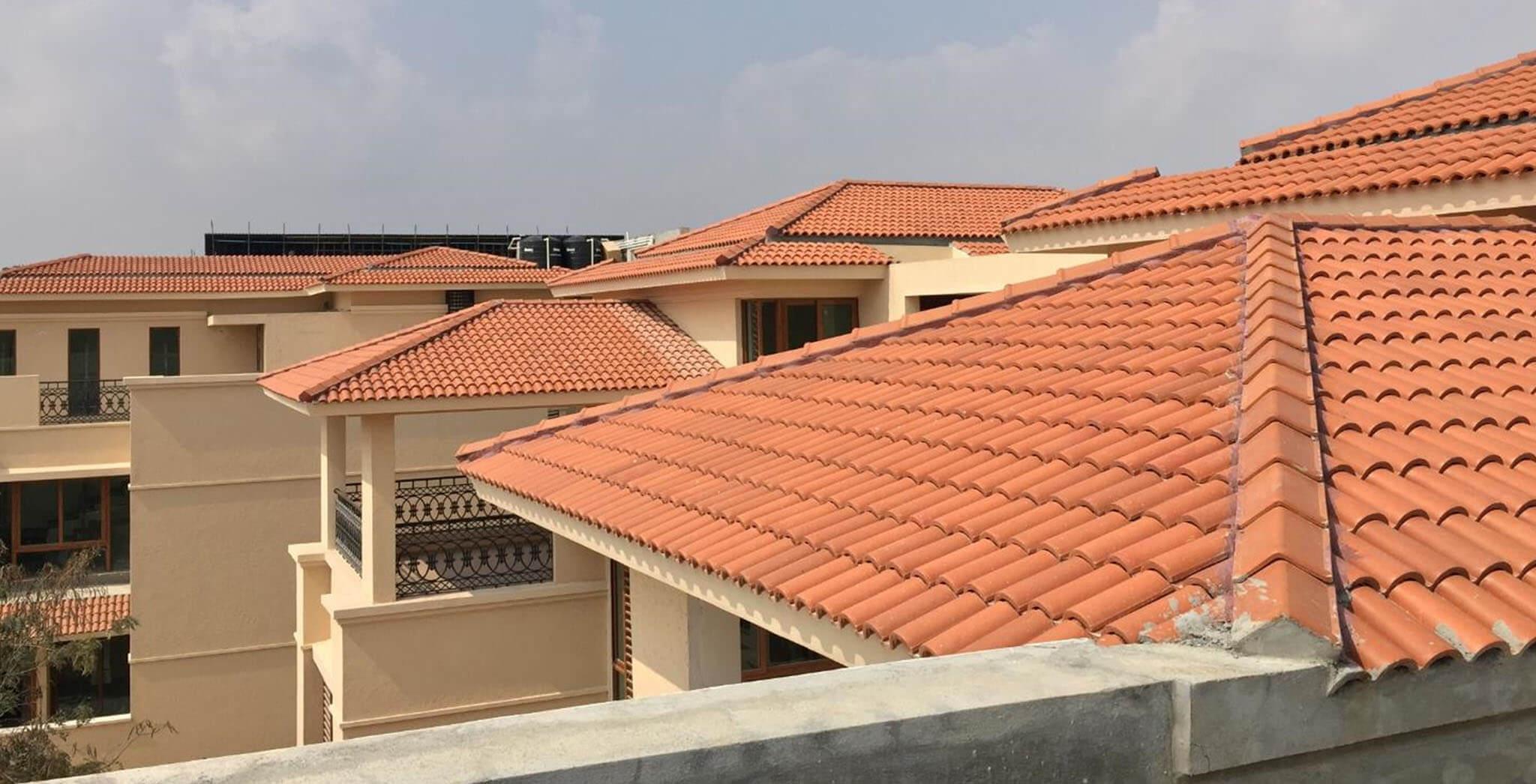 Jan 2019 - Villas Roof tiling work-in-progress