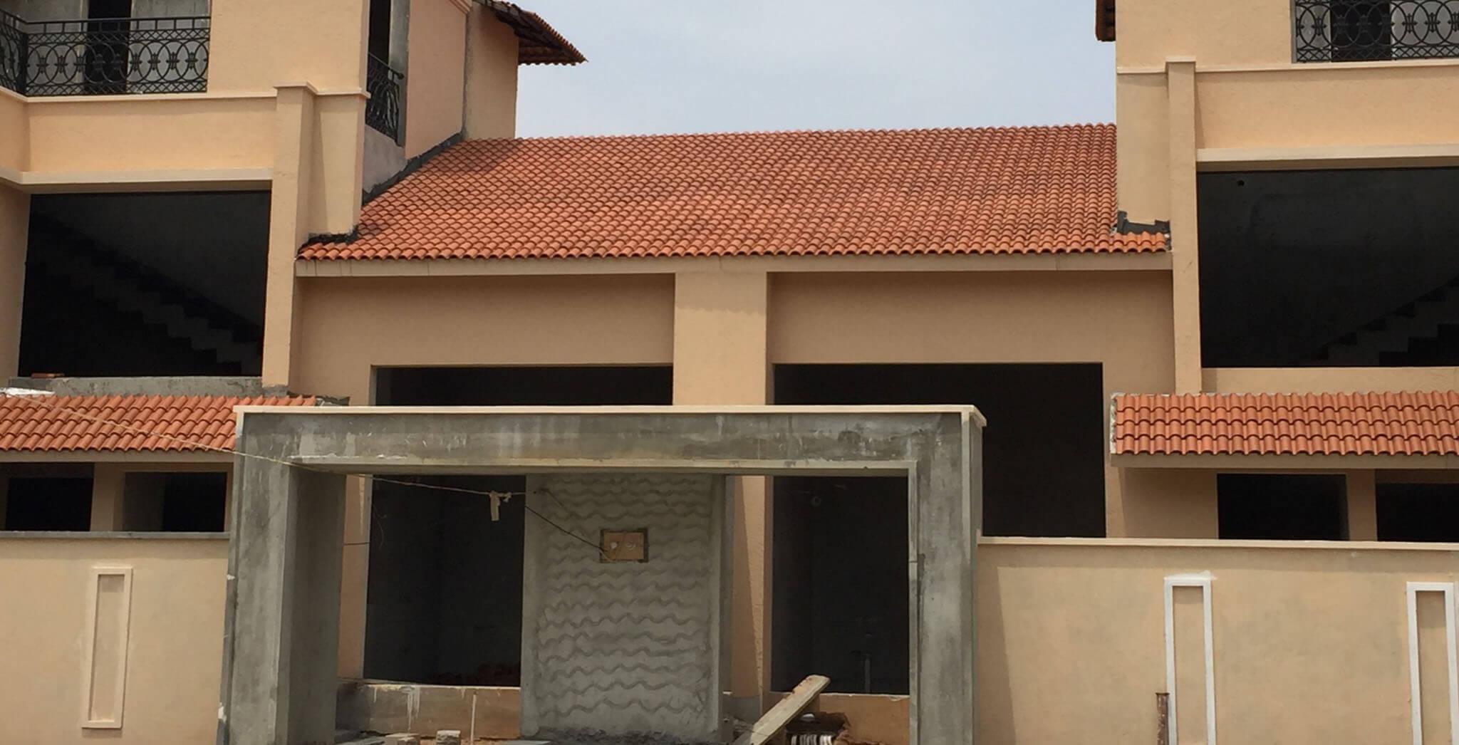 Apr 2019 - Villas: Roof tiling work-in-progress