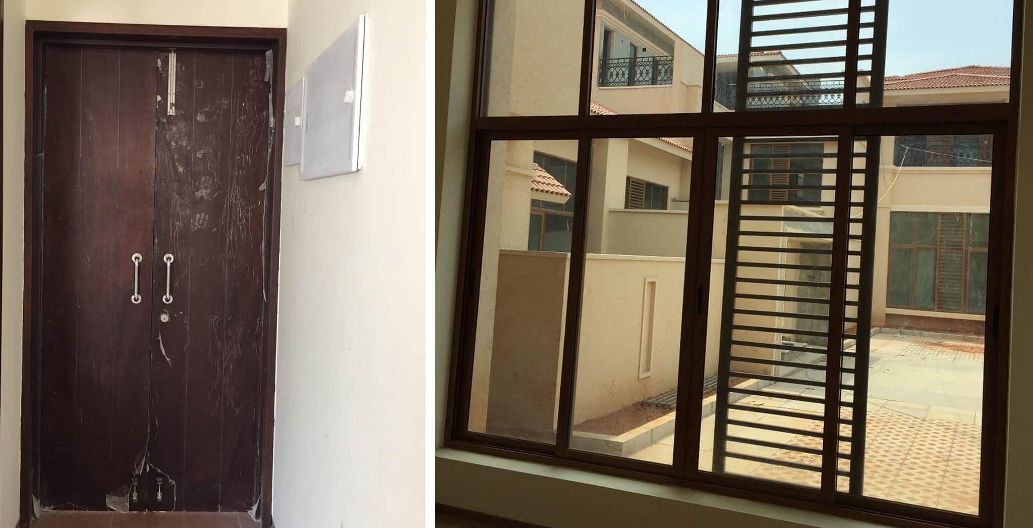 Apr 2019 - Villas: Door and Window fixing work-in-progress