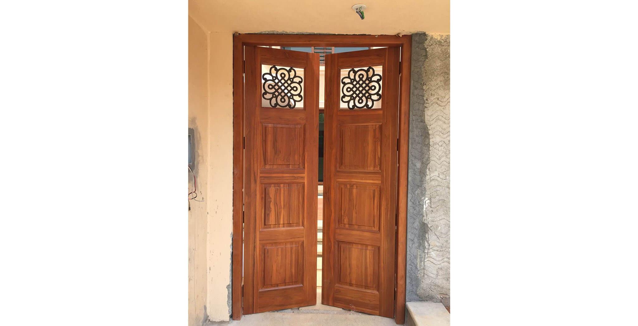 Apr 2019 - Entrance door fixing work-in-progress
