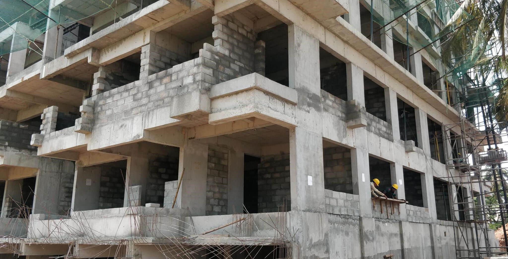 May 2019 - Ground floor: Block work-in-progress