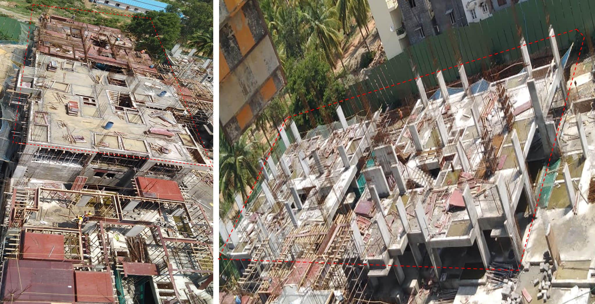 Jun 2019 - Tower F: Aerial view [2nd floor slab (K,L,M,N)]