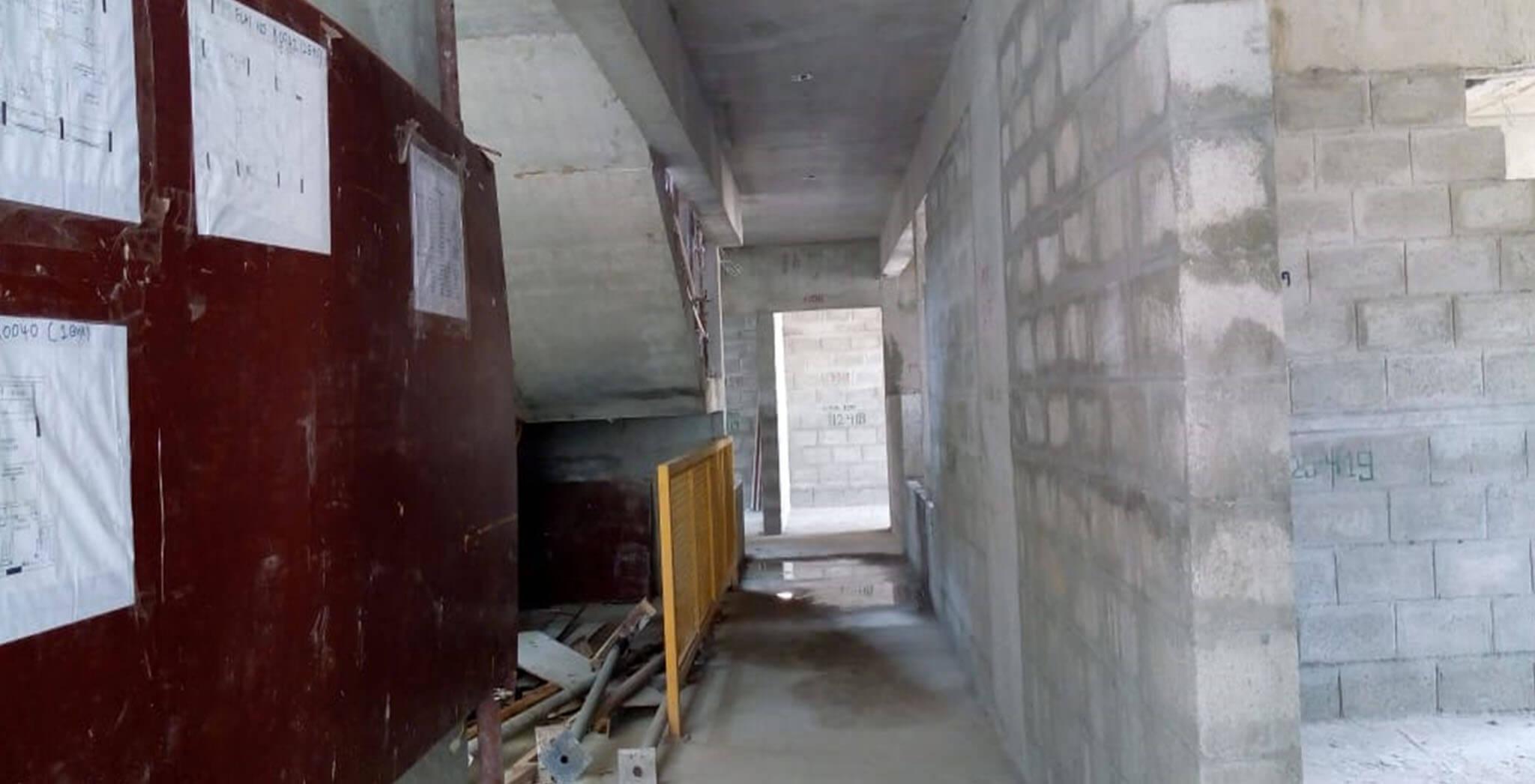 Jun 2019 - Tower F—Ground floor: Blockwork work-in-progress