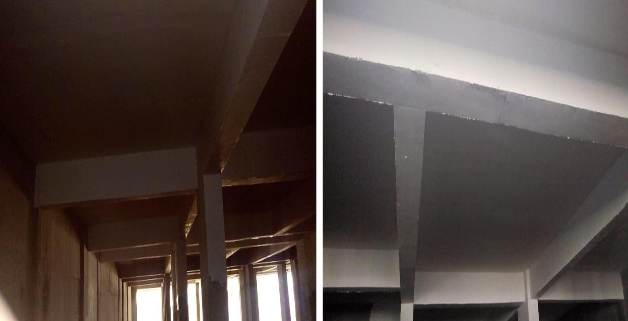 Jun 2019 - Tower F—Lower basement: Putty work-in-progress