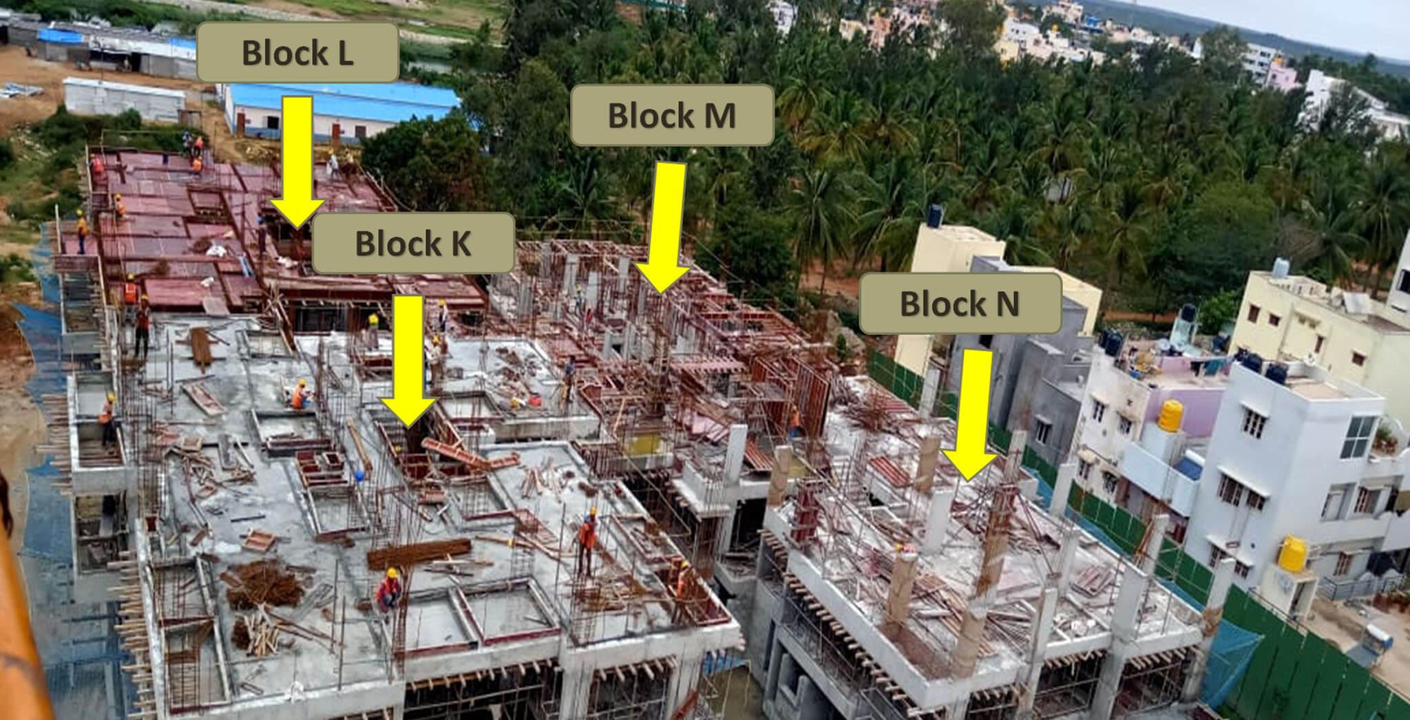Aug 2019 - Aerial view of Tower F: 3rd floor slab (K,L,M,N)
