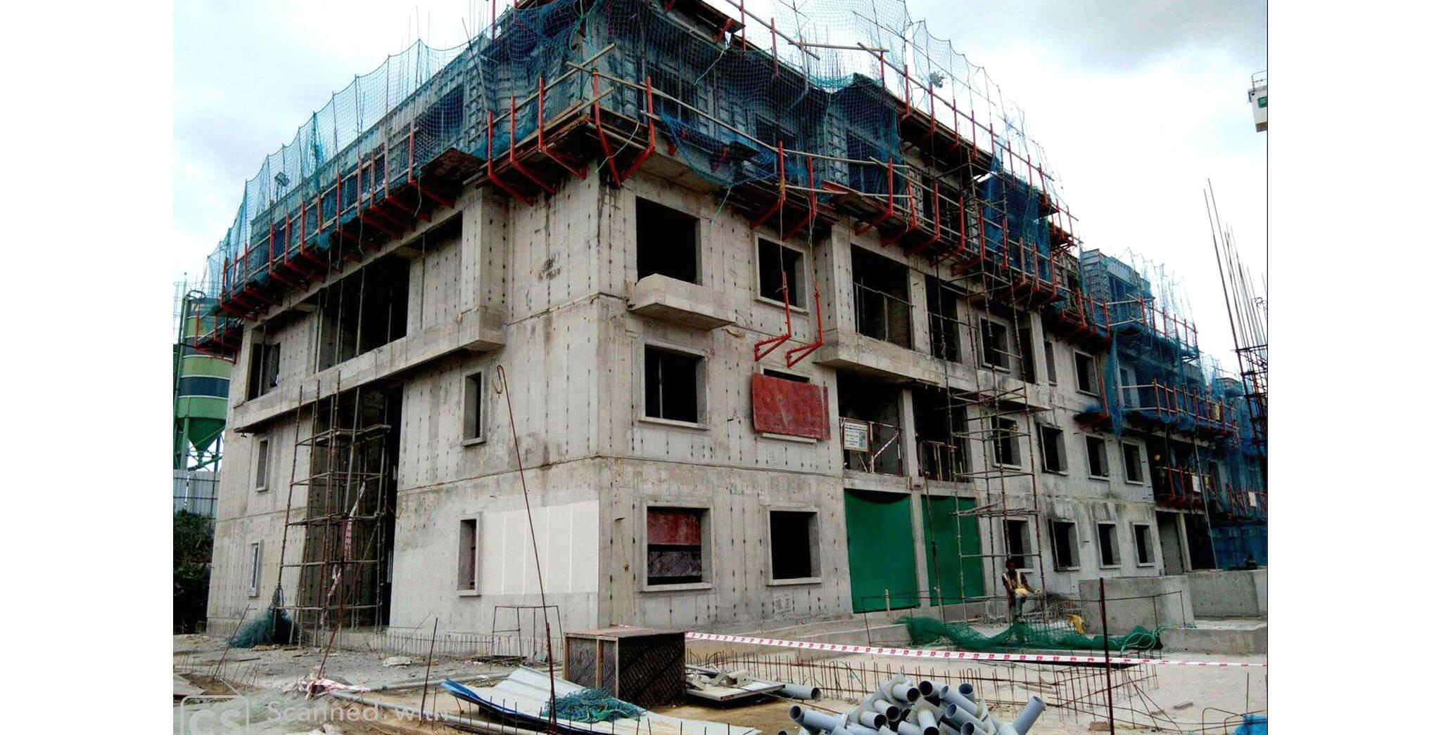 Aug 2019 - Q Block: Fourth floor slab work-in-progress