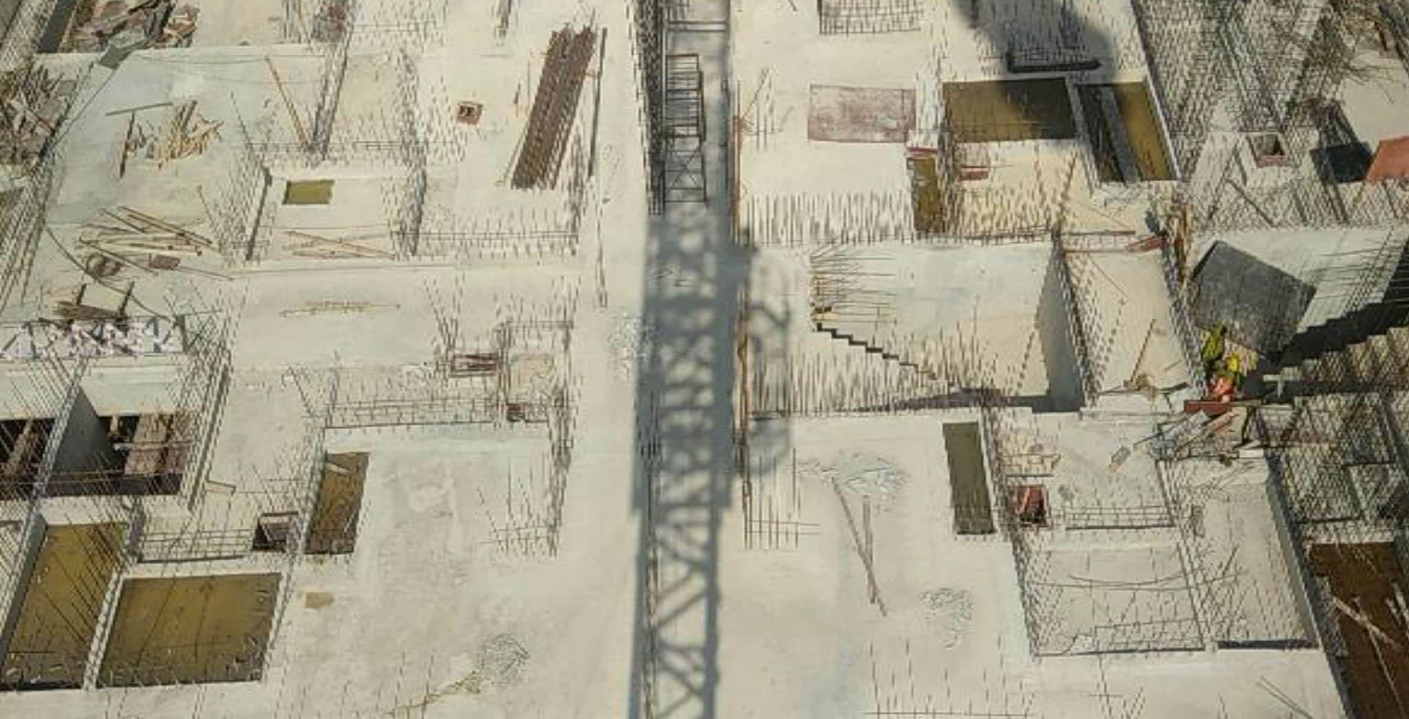 Aug 2019 - N Block: Ground floor slab completed