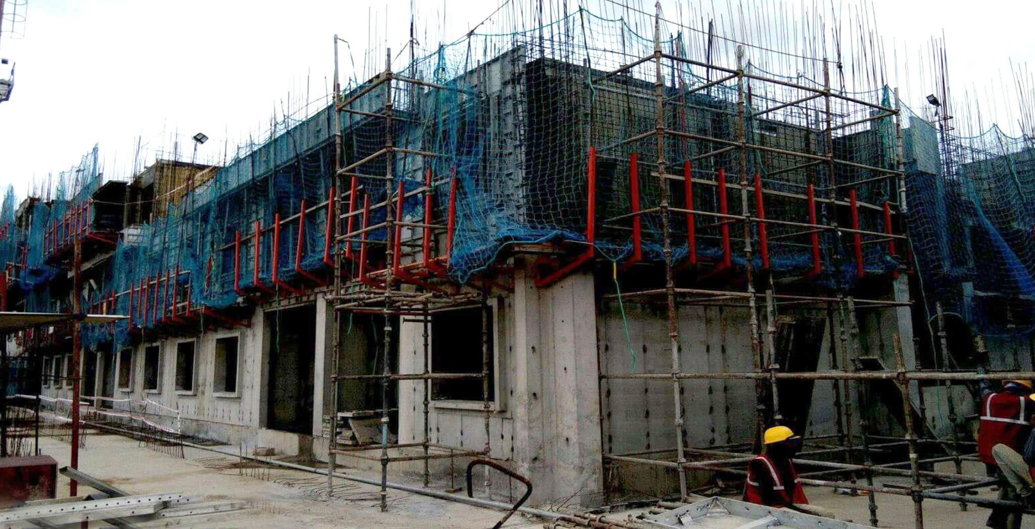 Aug 2019 - R Block: Second floor slab (Urban window area) work-in-progress