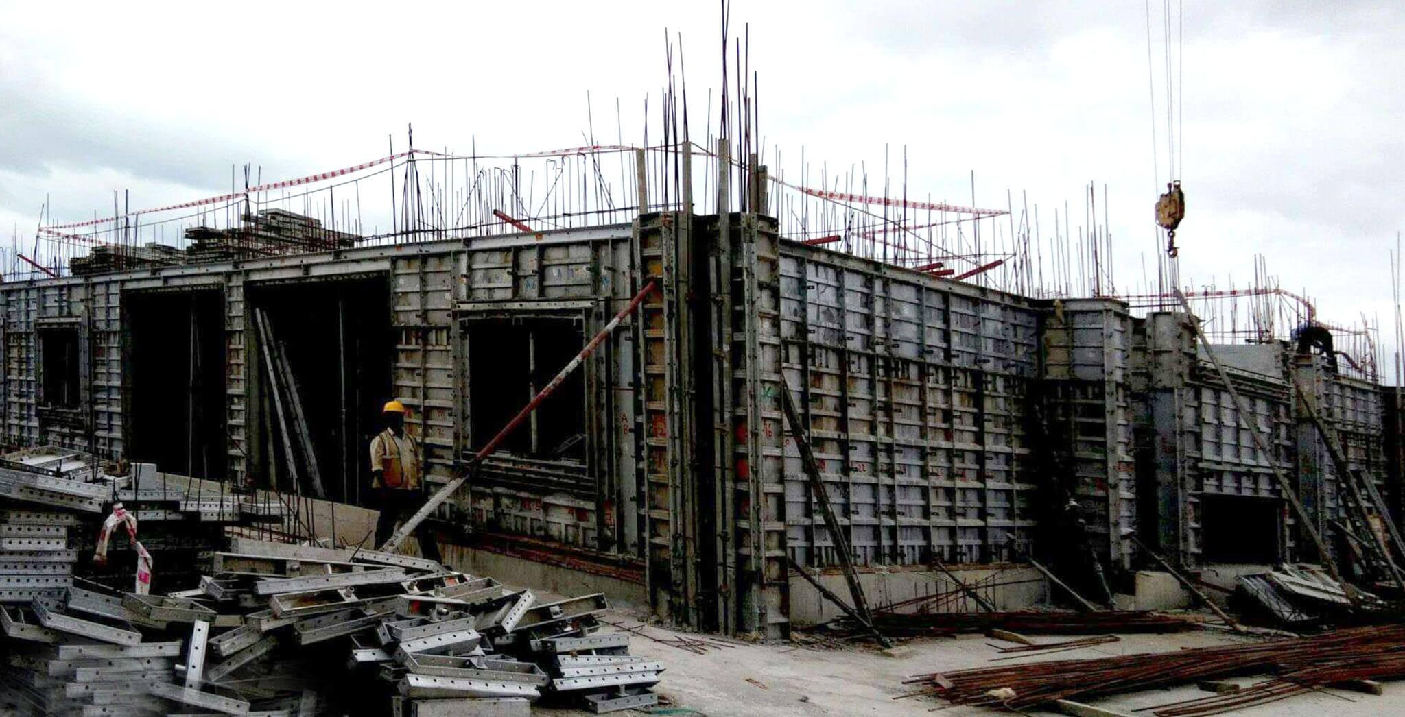 Aug 2019 - O Block: First floor slab work-in-progress
