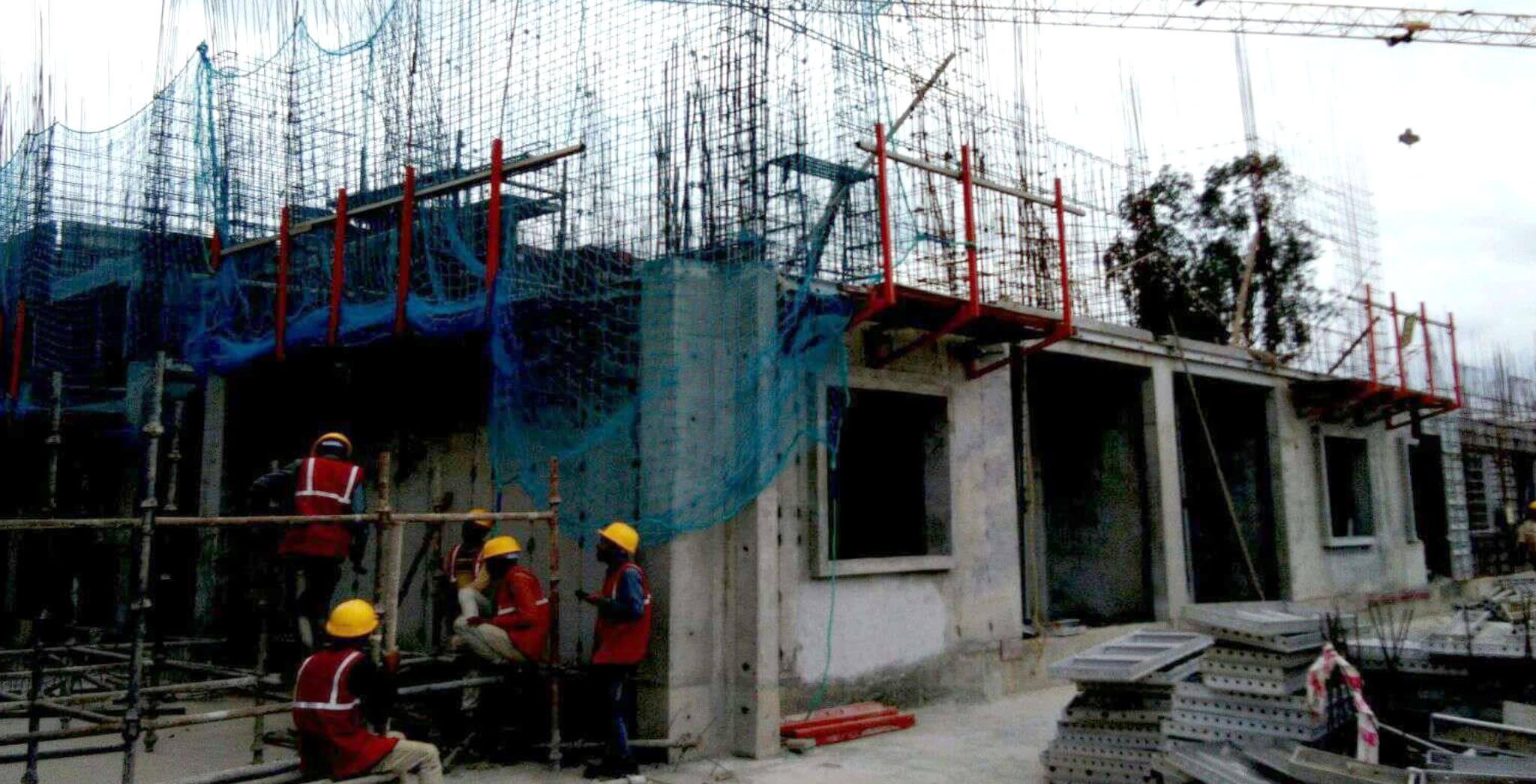 Aug 2019 - S Block: First floor slab work-in-progress