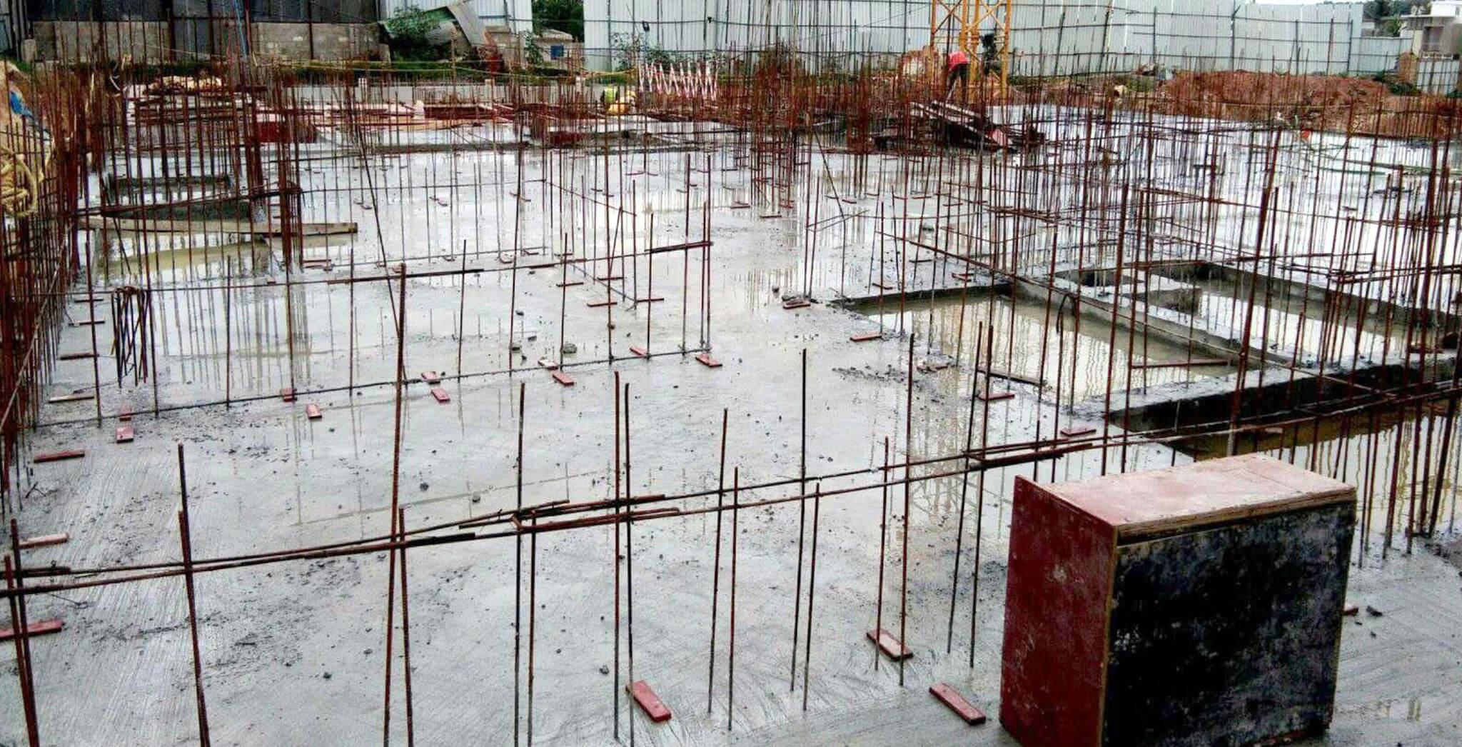 Aug 2019 - T Block: Ground floor slab work-in-progress
