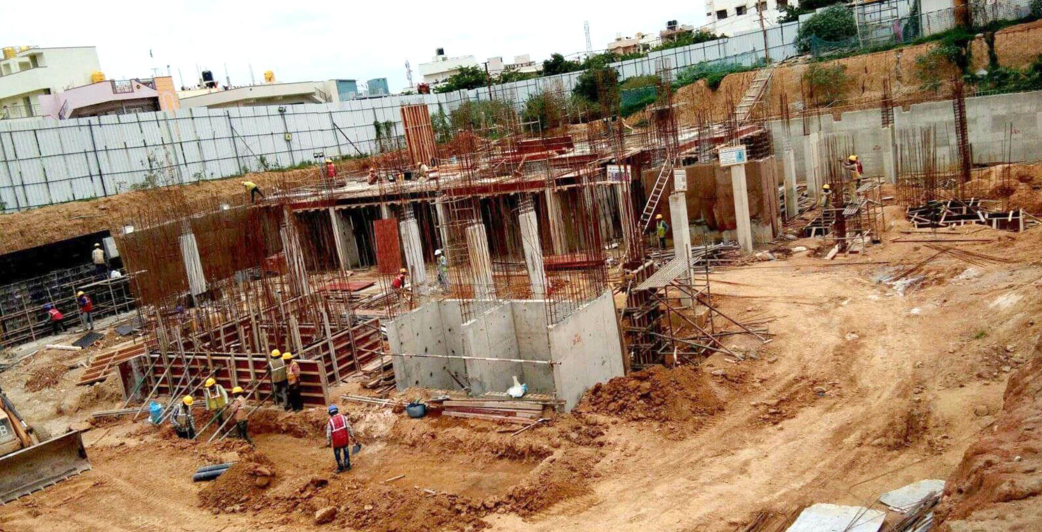 Aug 2019 - A & B Blocks: Basement work-in-progress