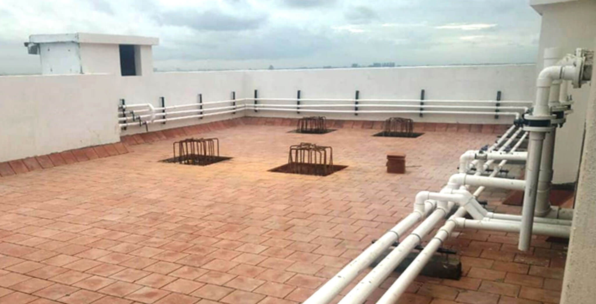 Sep 2019 - Terrace piping work completed