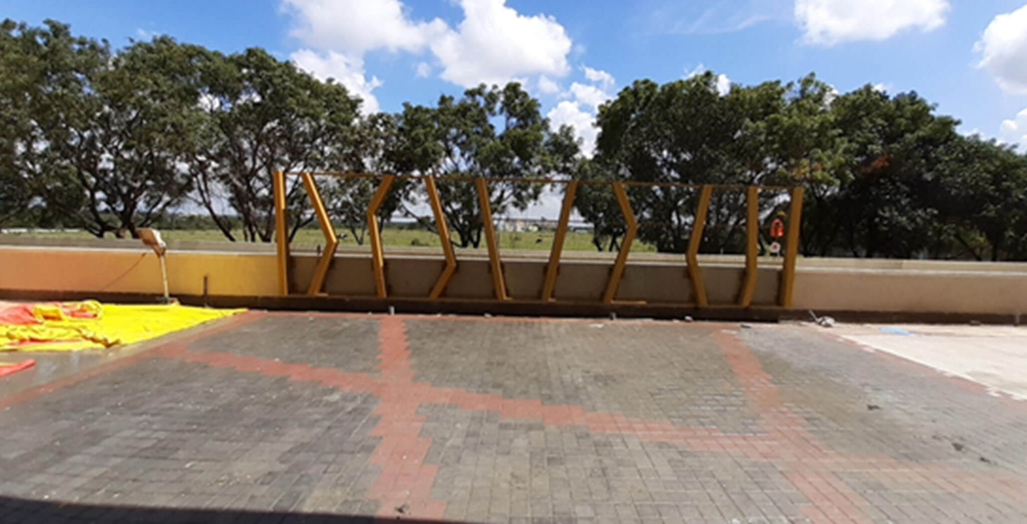 Oct 2019 - Drop-off Plaza in front of Tower C