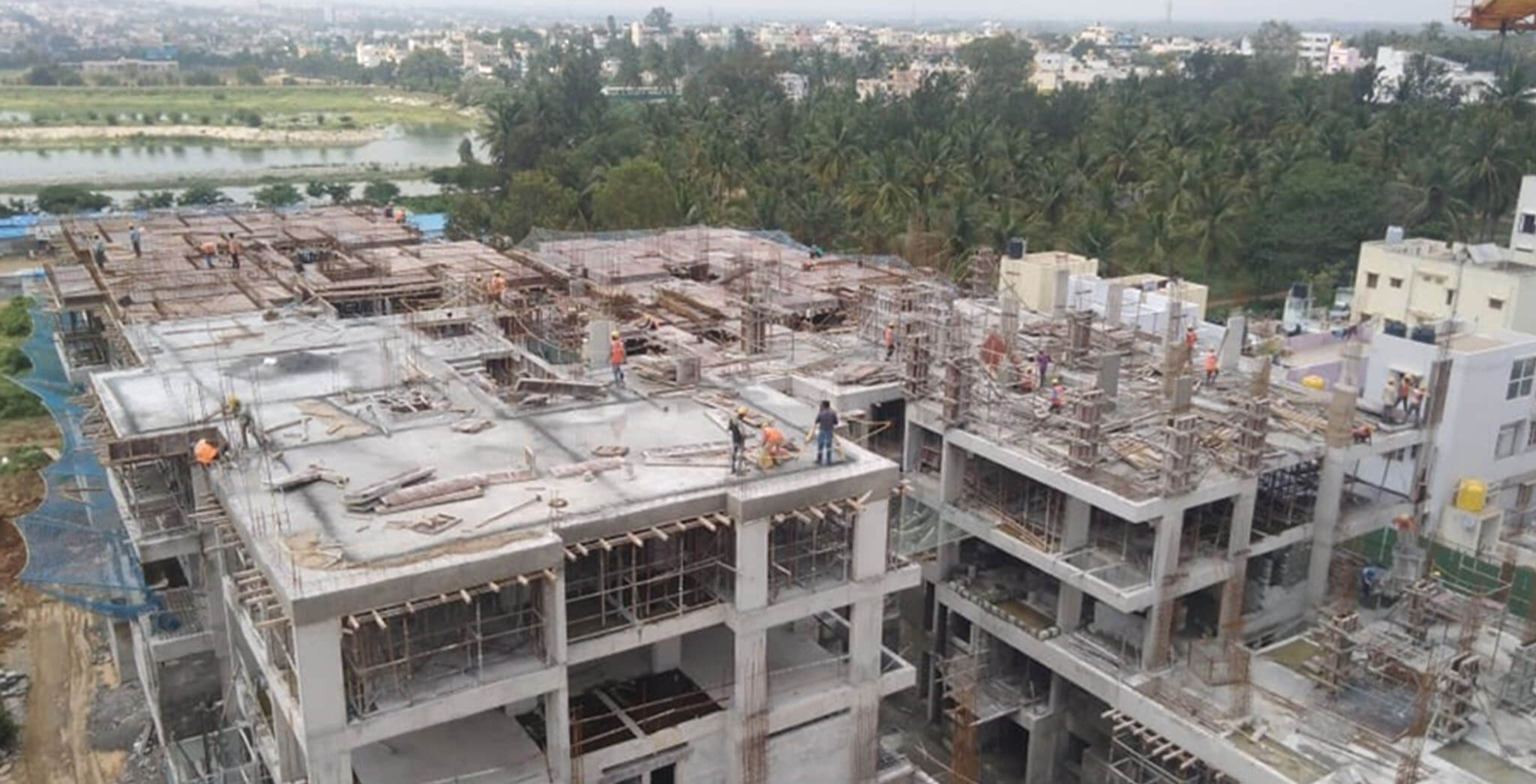 Oct 2019 - Wing K: Terrace completed; Wings L, M & N: Terrace work-in-progress