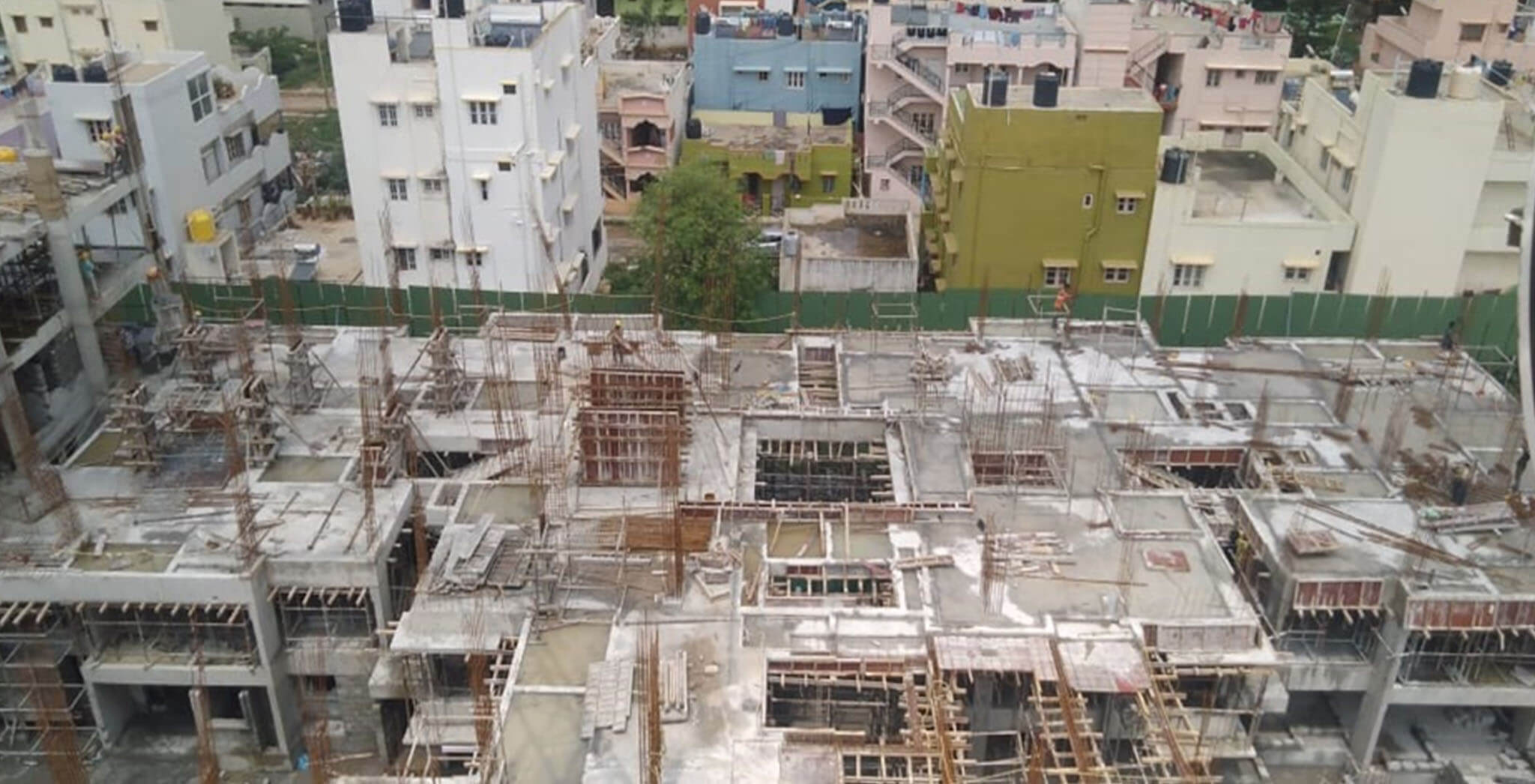 Oct 2019 - Wings O, P, J & I: 2nd floor concreting done; 2nd to 3rd floor columns work-in-progress
