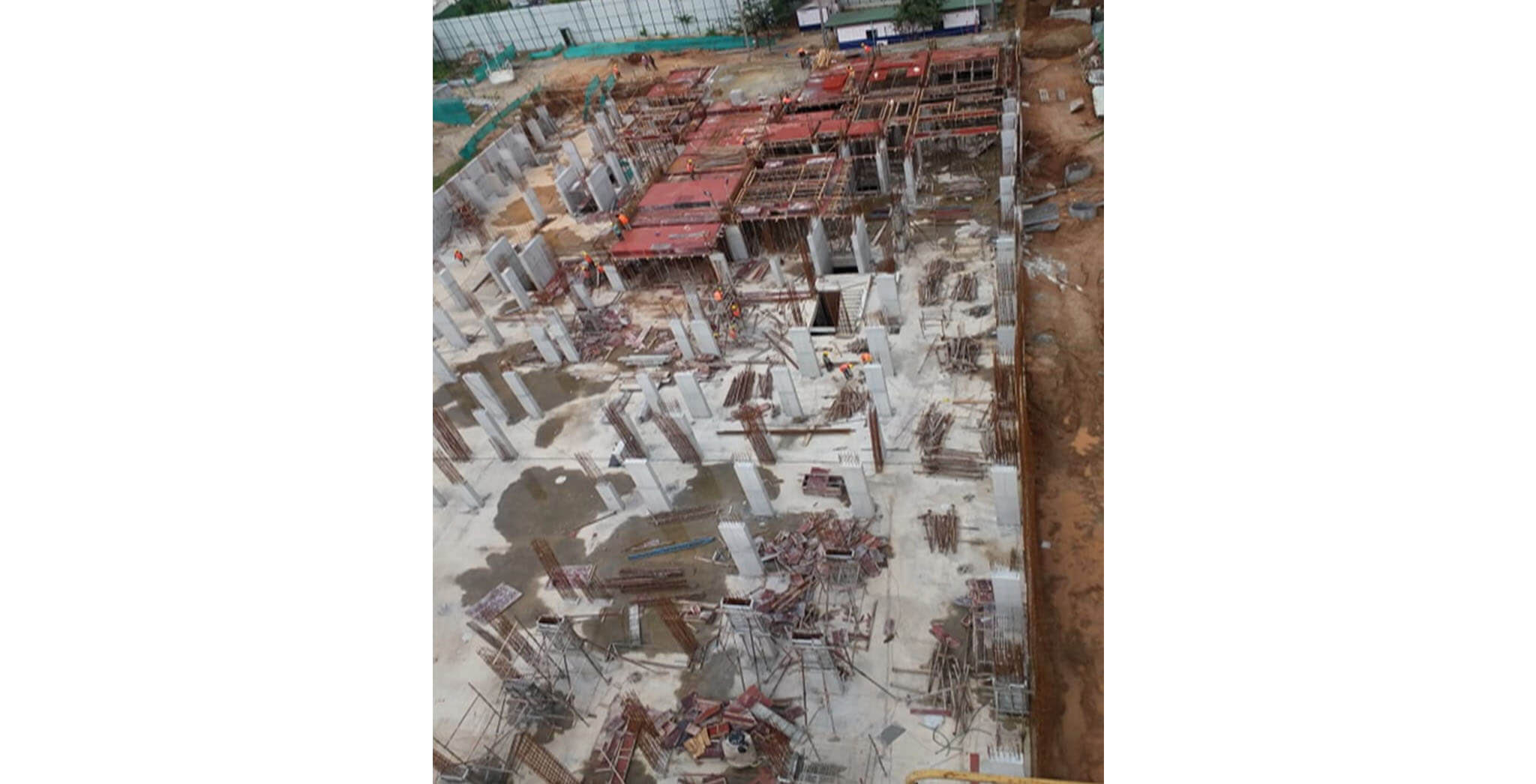 Oct 2019 - Wings A, B, W & X: Ground floor slab work in progress