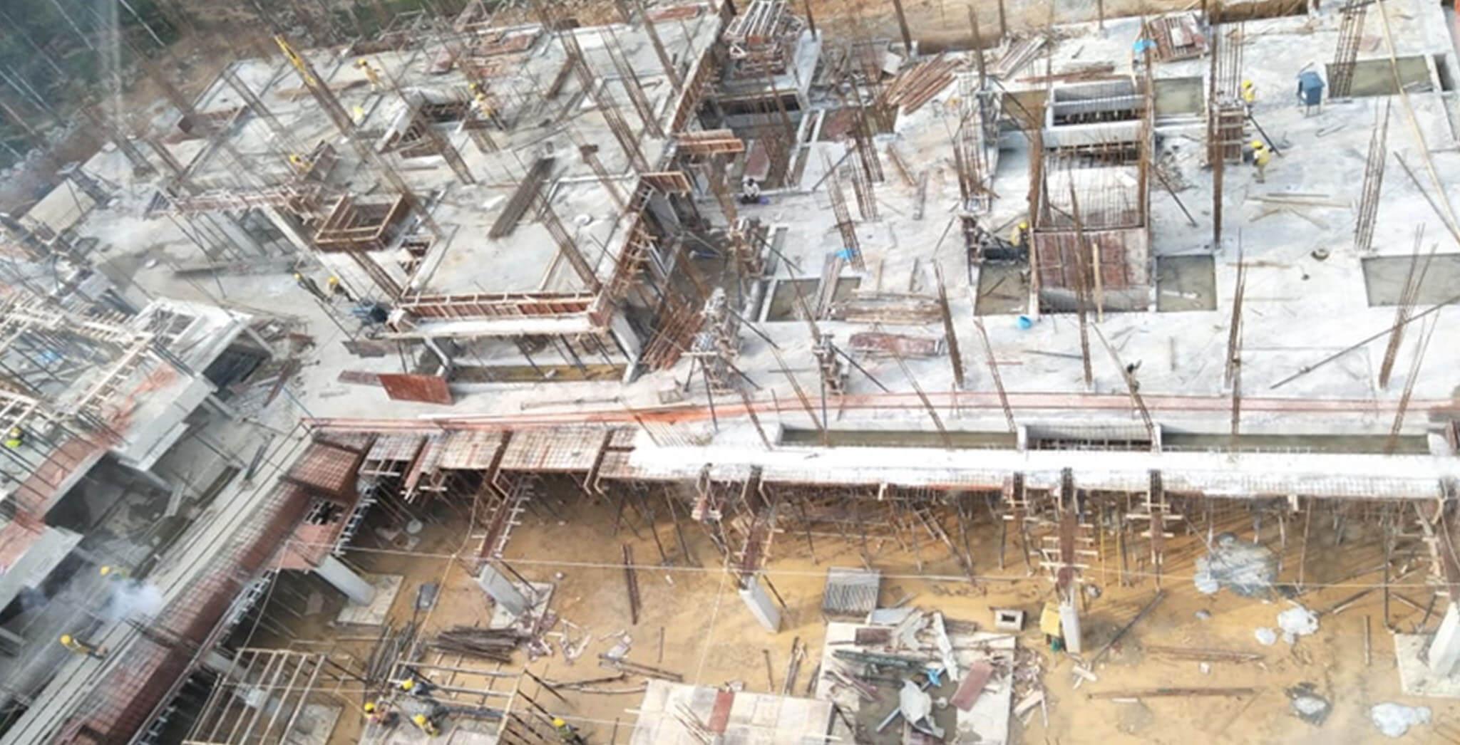Oct 2019 - M, N, & P Blocks: Ground floor completed; M, N Blocks: first floor completed